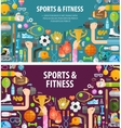 fitness logo design template sportsman or vector image vector image