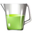 Green liquid in glass beaker vector image vector image