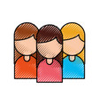 group of business women working people on white vector image