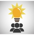 group people team work bulb vector image
