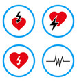 heart attack rounded icons vector image