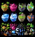 isometric 3d fantastic islands details vector image vector image