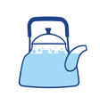 kettle boiling wate teapot isolated kitchen vector image