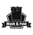 laundry clothes wash logo simple style vector image