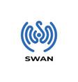 letter s swan logo vector image