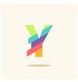 letter y logo icon design template elements vector image vector image