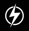 lightning bolt icon idesign vector image