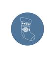 Linear Icon Christmas Sock vector image