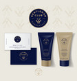 logo barbershop gentleman club mock up cream vector image