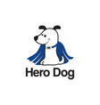 logo template with hero dog vector image