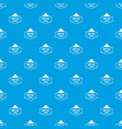 man hat pattern seamless blue vector image vector image
