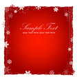 New Year or Christmas red background vector image vector image