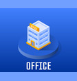 office icon symbol vector image vector image