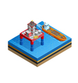 OIl Industry Offshore Platform Isometric Image vector image
