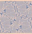 patchwork fabric textile seamless pattern vector image
