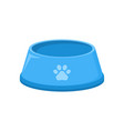 pet food bowl for dog cat icon pet plate vector image vector image
