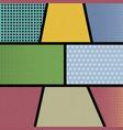pop art comic book strip retro background vector image vector image