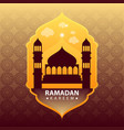 ramadan kareem on gold abstract background vector image