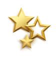 realistic metallic golden star background vector image