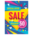 sale - concept vertical banner design discount vector image vector image