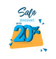sale discount up to 20 template design vector image vector image