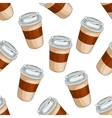 Seamless pattern coffee to go vector image