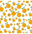 seamless pattern of orange vector image
