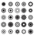 Set of Different Tribal Rosettes Tattoo Design vector image vector image