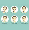 set of various woman face shape for make up vector image vector image