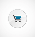 shopping cart icon 2 colored vector image vector image
