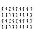 shopping girl walk cycle animation sprite sheet vector image vector image