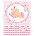 Sleeping baby girl vector image vector image