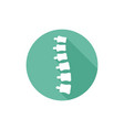 spine orthopedic isolated round flat icon vector image vector image