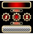 sport trophies vector image vector image