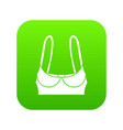 sports bra icon green vector image vector image