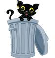 Stray Black Cat vector image vector image