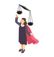 successful lawyer icon vector image