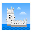 the belem tower travel to portugal vector image vector image