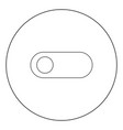 toggle switch black icon in circle isolated vector image vector image