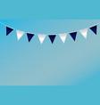 triangular flag ideas design on vector image vector image