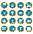 turkey travel icons blue circle set vector image vector image