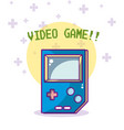 videogame cartoons concept vector image vector image