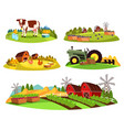 village countryside views on garden and barn vector image vector image