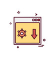 web layout icon design vector image