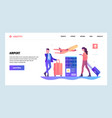 web site gradient design template airport vector image