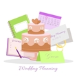 Wedding Planning Concept in Flat Design vector image vector image