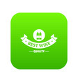 wine bar icon green vector image