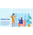 woman training consulting time for client vector image vector image