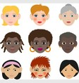 womens faces vector image