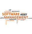 word cloud - software asset management vector image vector image